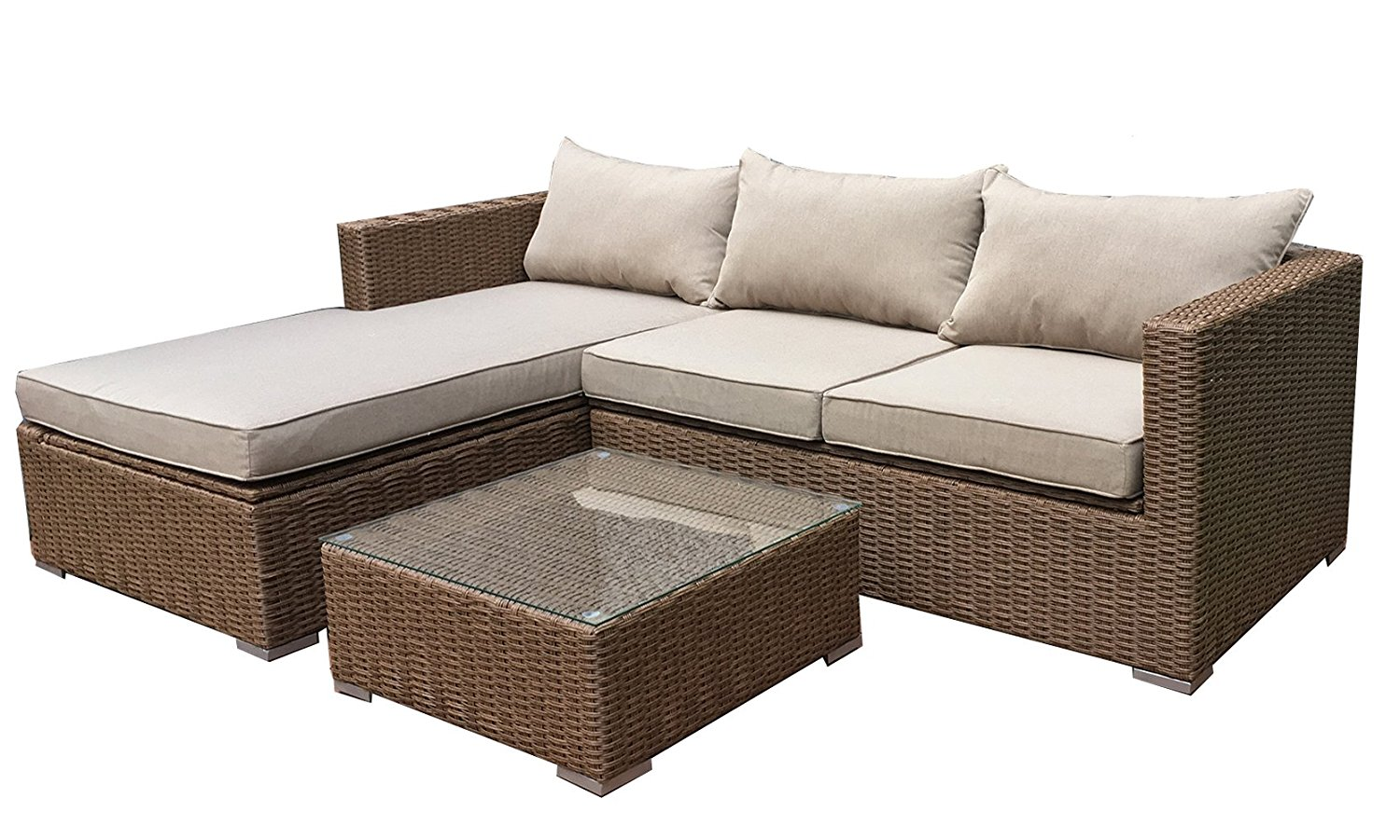 deep sectional sofa patioflare emmett seating sofa sectional set with 30958