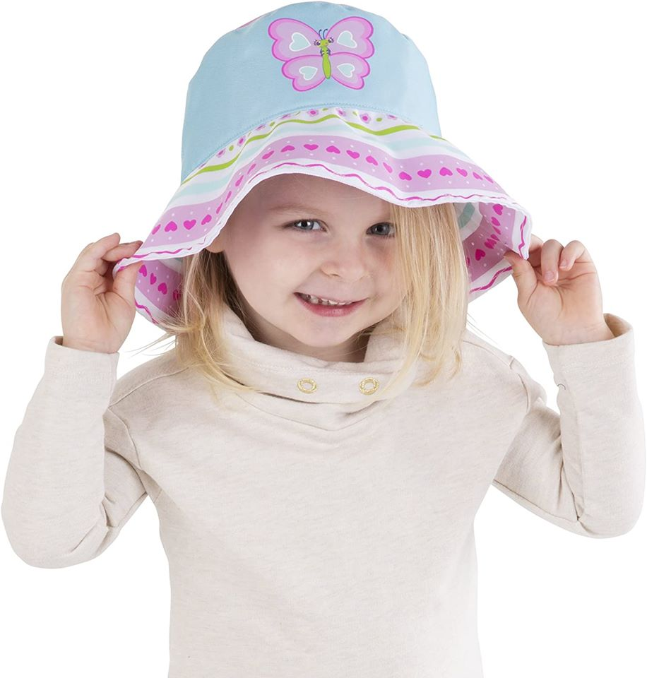 Melissa /& Doug Sunny Patch Cutie Pie Butterfly Hat With Wide Brim for Sun Protection