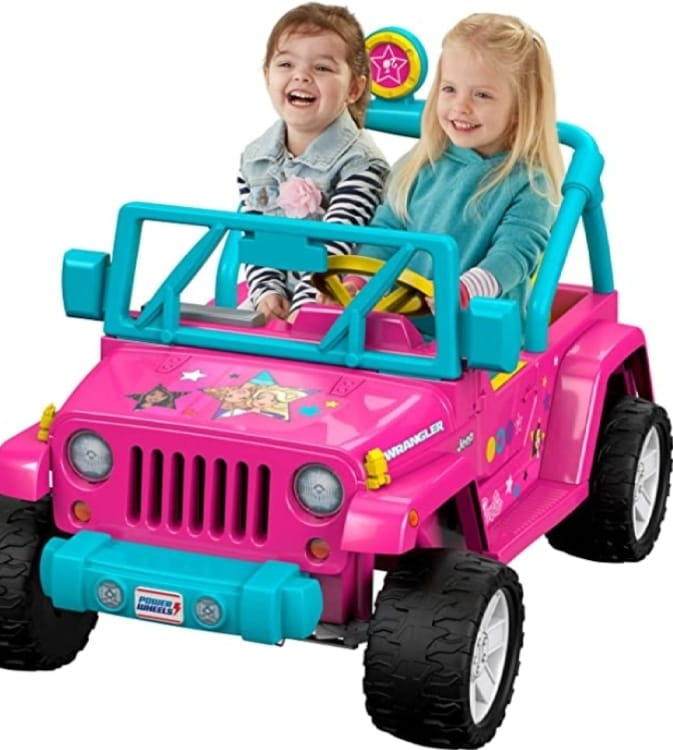 Power Wheels Barbie Jeep Wrangler Pink Blue Yellow I Love Savings Coupons Grocery Health Beauty Household