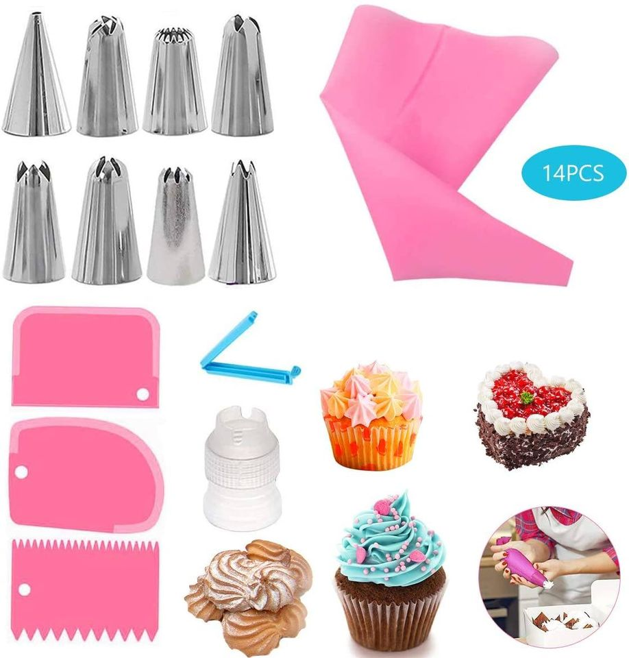 Meowoo Cream Cake Decorating Supplies Kit for Beginner and ...